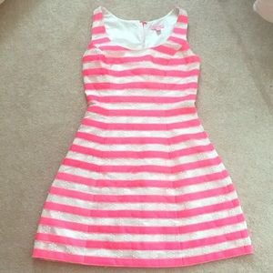 Lilly Pulitzer Striped fit and flare dress GUC